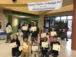 MES Tech Ninjas Place at Regional Tech Fair