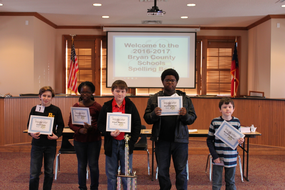 Congratulations to our district Spelling Bee contestants! Elijah Westcott is our winner!!